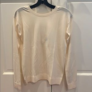 Theory cream low back long sleeve top sexy